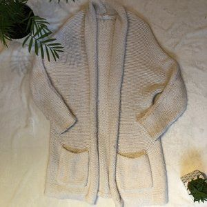 GAP Plush White Knit Cardigan